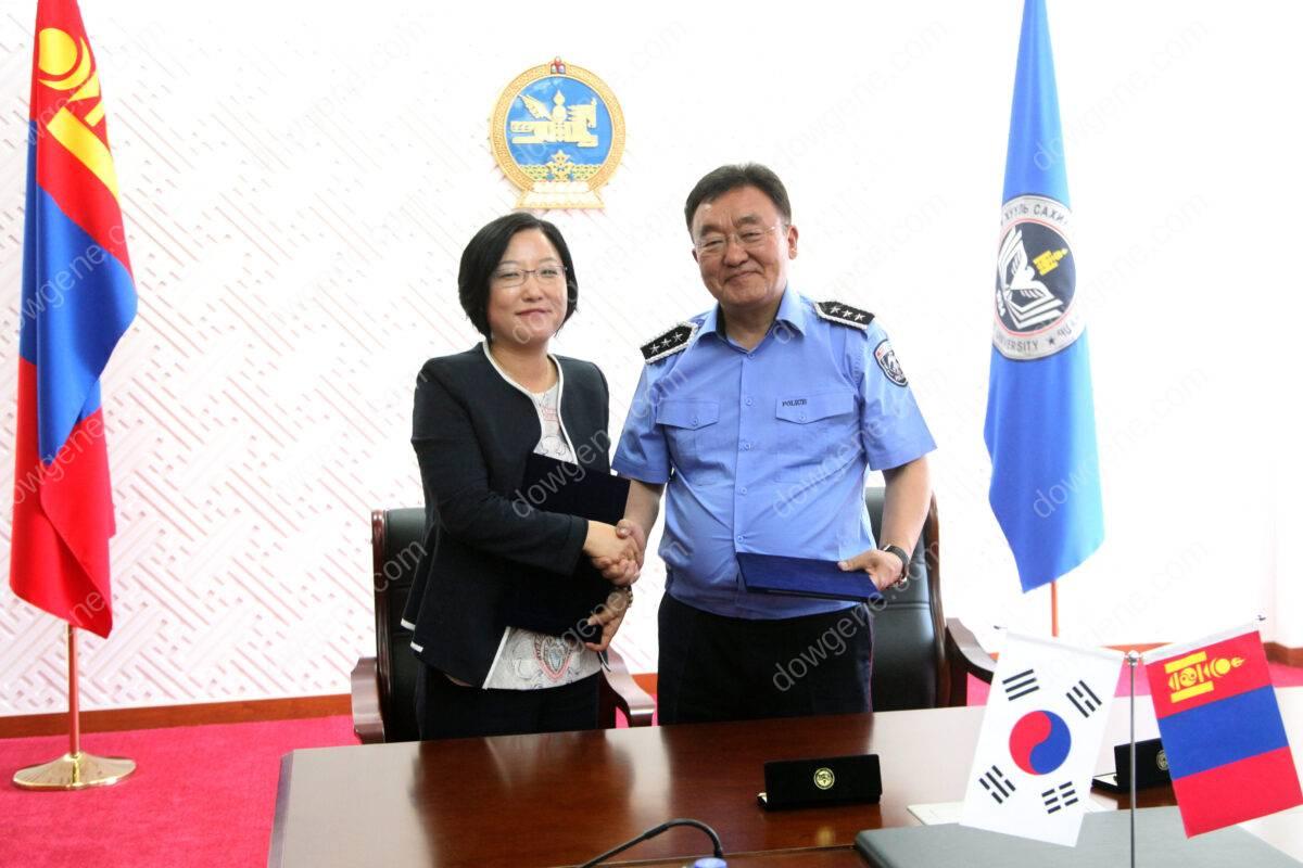 (주)다우진유전자연구소 몽골 Law Enforcement University 와 기술협약 MOU 체결